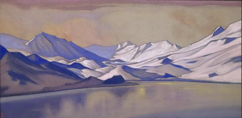 Н.К.Рерих. Горное озеро. Перевал Бара-Лача. 1944